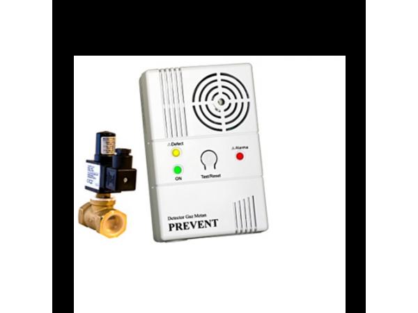 Detector de gaz metan Prevent 1279 cu electrovalva de 1/2, echipament complet, transport gratuit