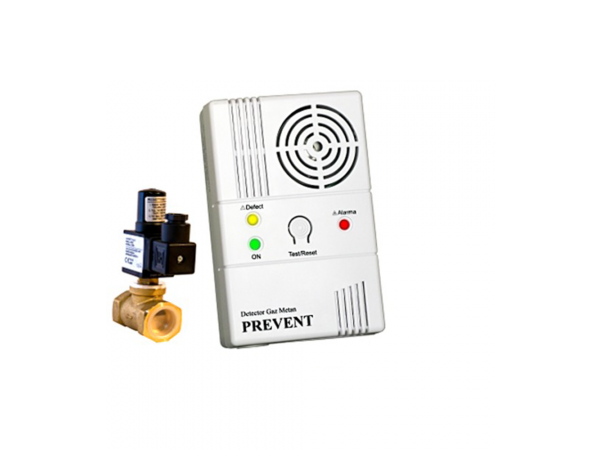 Detector de gaz metan Prevent 1279 cu electrovalva de 3/4, echipament complet, transport gratuit